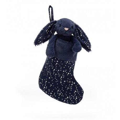 Jelly Cat  Calcetin Conejo Negro 23 Cms.